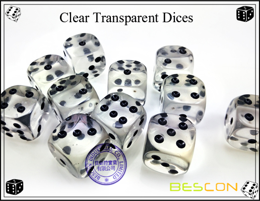 Clear Transparent Dices-2