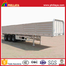 Open Top Side Wall Detachable Flatbed Box Trailer for Sale