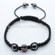 sterling silver shamballa bracelet jewelry with Polymer clay Crystal balls