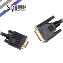 SIPU conector de oro de 8.0mm con cable de 2 núcleos vga / dvi