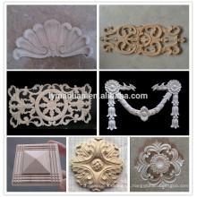 Onlays tallados en madera