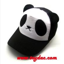 Cartoon-Panda scherzt Fernlastfahrer-Kappe