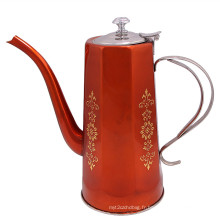 Bouilloire d'eau chaude portable en acier inoxydable coloré