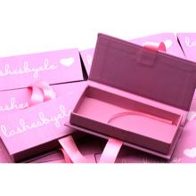 B155 Hitomi custom eyelash packaging fluffy mink eyelash wholesale false eyelashes eyelash box custom logo