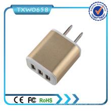 Cargador de viaje USB 3.1A Universal 3 Port USB cargador de pared para móviles