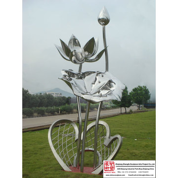 Superb Hand Carved Stainless Steel Sculpture