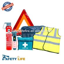 kit rose de voiture de secours / kit d'outil de lampe de poche de voiture / kit d'extincteur d'urgence de voiture