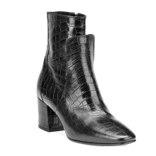 Ladies Winter Boots Women With High Heel Genuine Leather Ankle Boots Women'S Boots Safety Leather