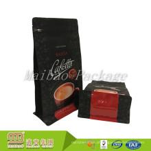 O costume imprimiu malotes laminados matte da folha de alumínio da parte inferior lisa para o empacotamento do feijão de café