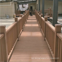 Easy Installation Waterproof WPC Railing Composite Plastic Railing Wood Plastic Handrail WPC Wood Railing