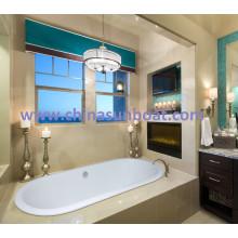 Sunboat Flushbonding Oval 1,8 M Gewöhnliche Haushaltswanne vertieft Runde Emaille Gusseisen Badewanne