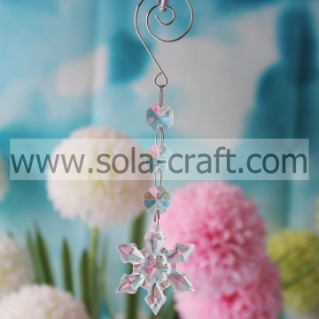 Pony 15.5CM Clear Grade A Acrylic Snowflower Holiday Bead Garland Prism Fit UK Curtain