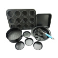 Carbon Steel Pan Cookie Cutter Non-stick Baking Set