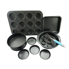 Carbon Steel Pan Cookie Cutter Non-stick Baking Set