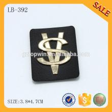 LB392 2016 горячей продажи штамповки логотип пользовательских кожаных сумок патчей