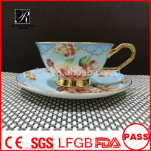 PT porcelain factory Bone China coffee set, decals cup and saucer, custom any design