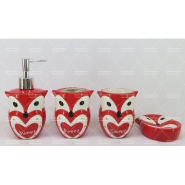 Eulenförmige Keramik Badezimmer Set 4 Stück
