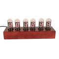 Reloj digital de madera con segundos
