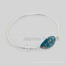 Handmade Semi Precious Gemstone Lovely Charm Bangle For Christmas