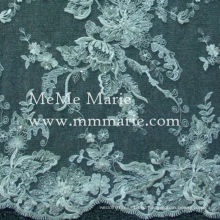 Гипюр кружевная ткань 3D вышивка кружева для свадебного платья CT354B