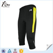 Mens Quick Dry 3/4 Sport Tights Fitness Wear Leggings