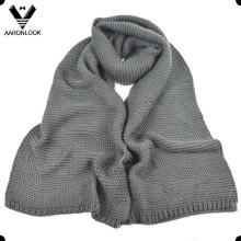 Мужчины зимние теплые акриловые толстые трикотажные шарф