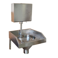 Slop hopper with flush valve