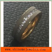 Titanium Edelstahl Einfache 18k Gold Mode Ringe