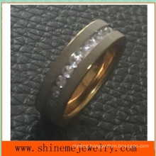 Titanium Stainless Steel Simple 18k Gold Fashion Rings
