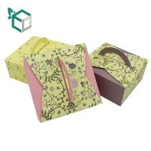 Geschenkbox Luxus Griff Papier Kuchen Box Hochzeitstorte Verpackung Box zum Backen