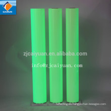 CY una cara lado adhesivo y Material de PVC brillan en la oscura película