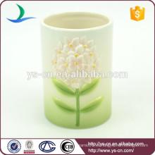 Sujetador cepillo de dientes de cerámica Floral Matching