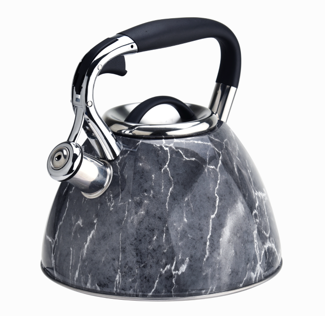 Whistle Grey Marble Tea Pot 324