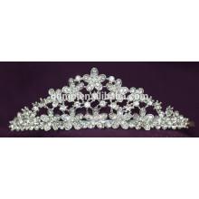 Скидка Блестящие аксессуары для волос Кристалл Свадебная корона Пользовательские Tiara Свадебный