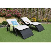 Mobiliario de exterior Tumbonas de mimbre al aire libre para playa y piscina
