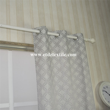 Squar Cross poliester Jacquard Curtain