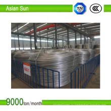 Тип 1350, алюминиевый стержень 9,5 мм сертификата ISO для волочения проволоки