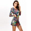 Large Size Dress New Style Women Sexy Dress Colorful Beauty Body Clothes