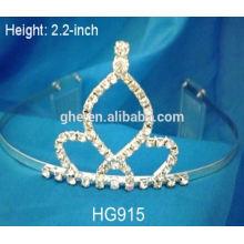 Fábrica de fabricação profissional diretamente coroa de flor de tiara