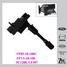 Para a bobina da ignição de Mazda para o mazda Premacy MPV 1.8 1.9 2.0 FFY1-18-100, FP85-18-100, FP85-18-100C, 5C1208, UF407