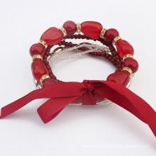 2015 new charm beads wrap bracelet
