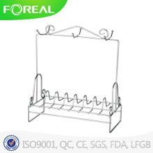 Verchromtes Metall-Glas-Glas-Rack