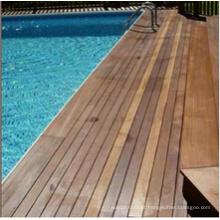 Decking exterior da madeira da piscina do Ipe