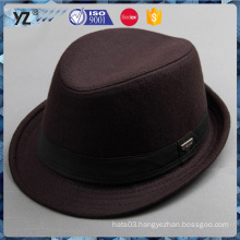 Latest arrival strong packing wool fabric fedora hats china supplier and free sample