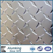 Placa de aluminio a cuadros de diamante 5052/5005 para instalaciones eléctricas
