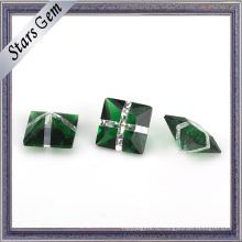 Оптовая зеленое стекло и белый цвет моды драгоценных камней