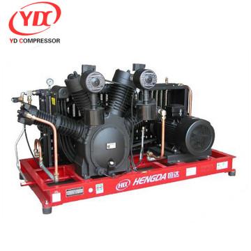 Compresor de aire de 40 bar de doble acción y movimiento alternativo