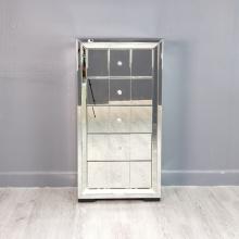 armário de gaveta de empresa de móveis de vidro cômoda espelhada