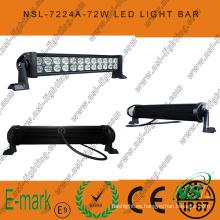 Barra de luz LED de 3 * 24W, barra de luz LED Epsitar de 13 pulgadas, barra de luz LED Spot / Flood / Combo para conducción en carretera