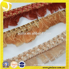 African chiffon flower lace trim for bra in stock